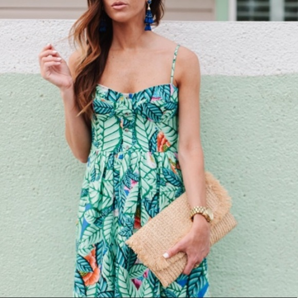 2855d0f360c Mara Hoffman    Leaf Print Bustier Maxi Dress NWOT.  M 5b19d6edbaebf6563a02904b
